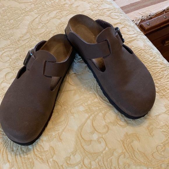 ec725139f6fa Birkenstock Shoes - Birkenstock Betula Taupe Clogs Mules Sandals